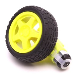 6V 250 Rpm Plastic Gearmotor & Wheel - Thumbnail
