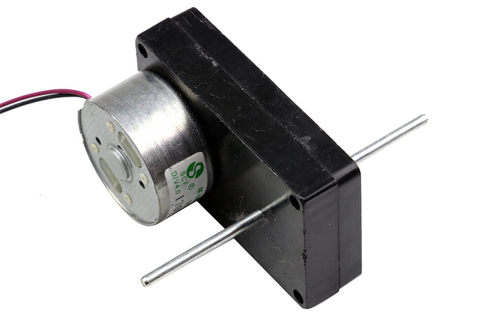 6V Double Shaft DC Motor w/Plastic Gearbox