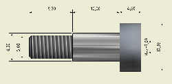 Ø6x10mm Hardened Steel Shaft Screw - Thumbnail