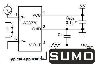 ACS770 Hall Effect Current Sensor (ACS770LCB-050U-PFF-T)