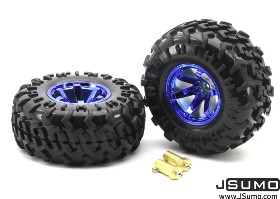 All Terrain Robot Wheel Pair (130mm x 59mm)