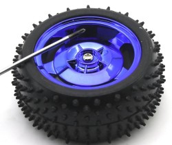 All Terrain Robot Wheel Pair (87mm x 39mm) - Thumbnail