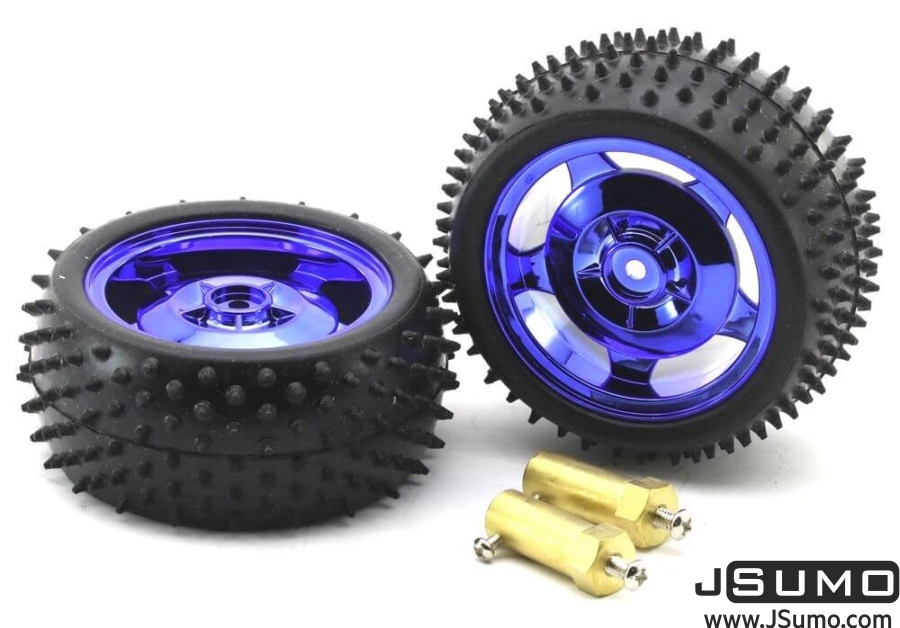 All Terrain Robot Wheel Pair (87mm x 39mm)