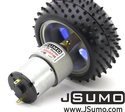 Jsumo - All Terrain Robot Wheel Pair (87mm x 39mm)