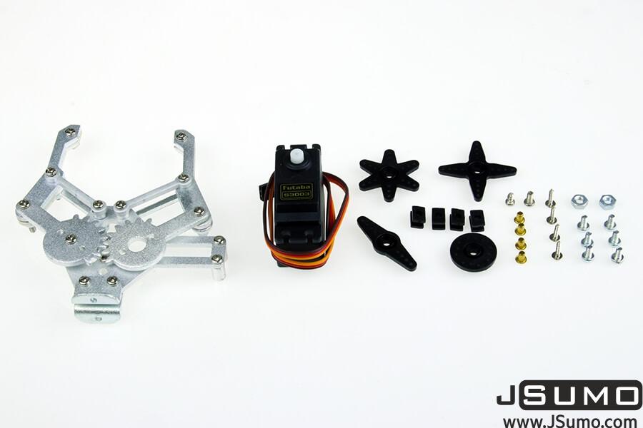 Aluminum Gripper with Futaba S3003 Servo Motor