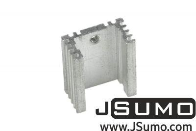 - Aluminum TO 220 Heat Sink (18mm x 21mm x 10mm) (1)