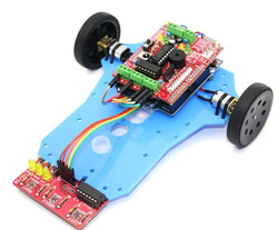 ArduLine Basic Line Follower Robot Kit - Thumbnail