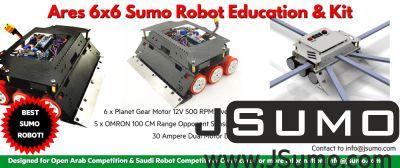 Jsumo - ARES 6x6 Sumo Robot (1)