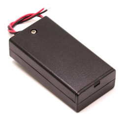 Battery Holder 2 x AA with Cover - Thumbnail