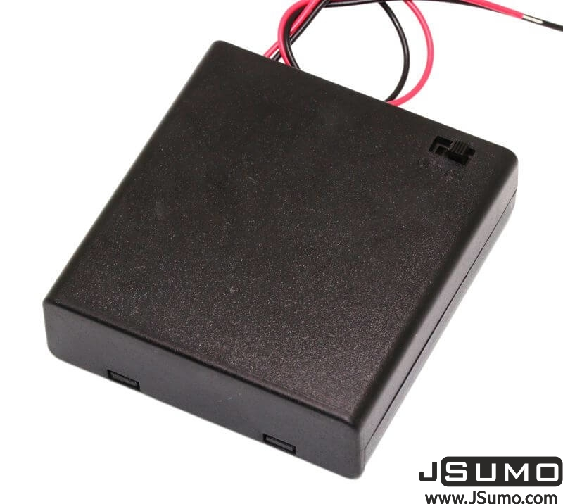Battery Holder 4 x AA with Cover and Switch