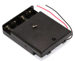 Battery Holder 4 x AA with Cover and Switch - Thumbnail