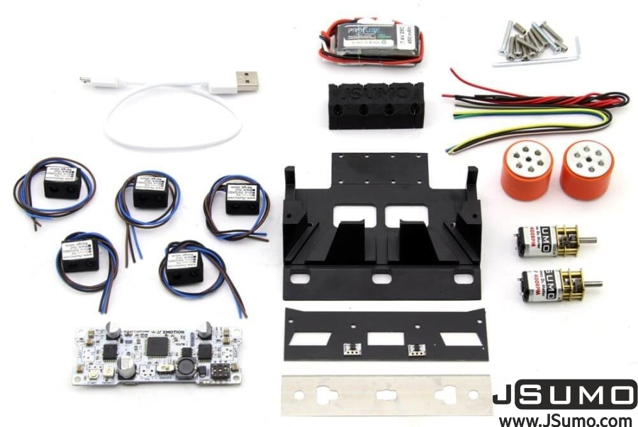 Black Magic Mini Sumo Robot Kit (Full Kit - Not Assembled)