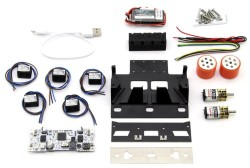 Black Magic Mini Sumo Robot Kit (Full Kit - Not Assembled) - Thumbnail