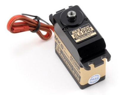 MKS - BLS990 Titanium Gear, Brushless Ultra Speed Servo