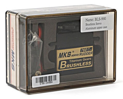 MKS - BLS990 Titanium Gear, Brushless Ultra Speed Servo (1)