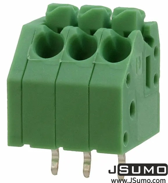 Button Spring Terminal Green 3 Pos 3.5mm Pitch