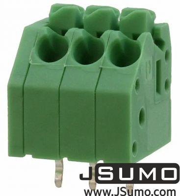 Phoenix Contact - Button Spring Terminal Green 3 Pos 3.5mm Pitch