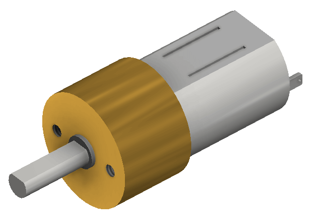 Carbon Microgear Dc Motor 6V 375RPM