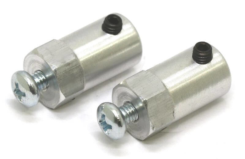 CNC Machined 12mm HEX Hubs (6mm Hole - Pair)