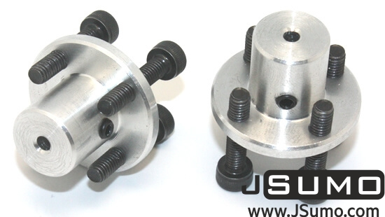 CNC Machined Mounting Hubs (3mm Hole - Pair)