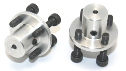 CNC Machined Mounting Hubs (3mm Hole - Pair) - Thumbnail
