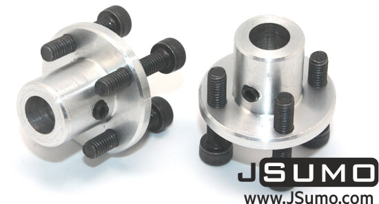 CNC Machined Mounting Hubs (6mm Hole - Pair)