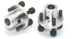 CNC Machined Mounting Hubs (6mm Hole - Pair) - Thumbnail