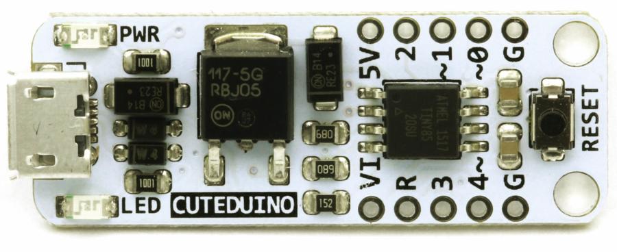 Cuteduino Micro Arduino Compatible Controller