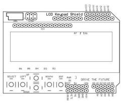 DFRobot LCD Keypad Shield - Thumbnail