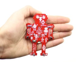 Flappy Flip Flop Keychain Kit - Easy Soldering Kit with Lights - Thumbnail
