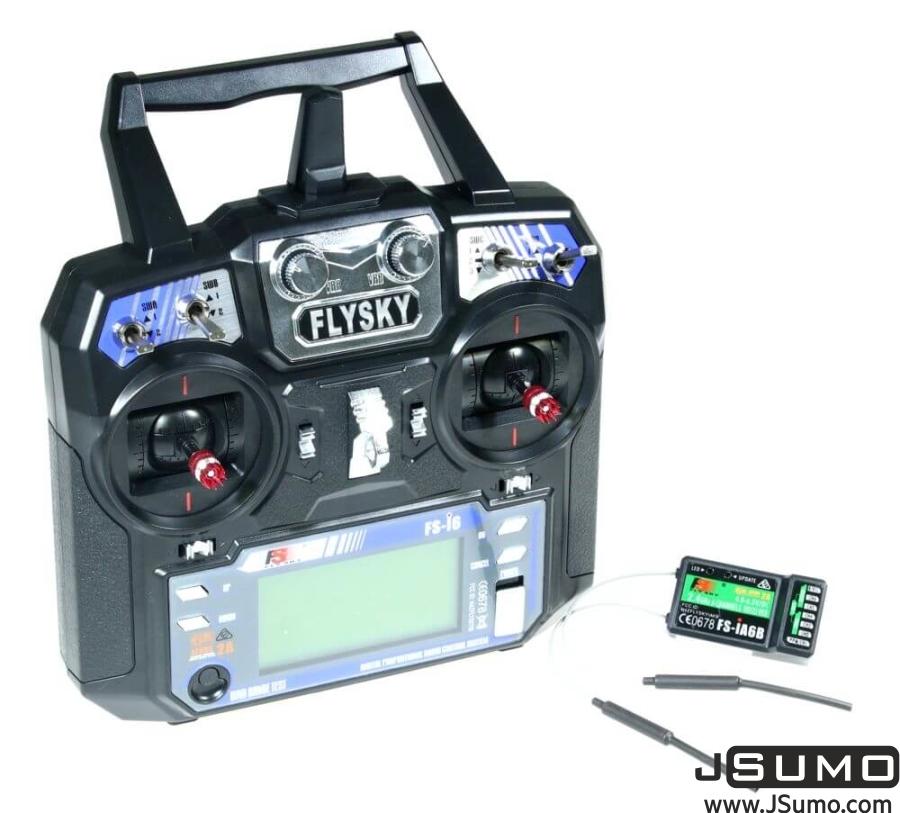 FLYSKY I6 2 4 Ghz 6 Channel Remote Kit (Transmitter & Receiver)