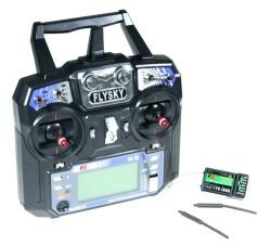 FLYSKY I6 2.4 Ghz 6 Channel Remote Kit (Transmitter & Receiver) - Thumbnail