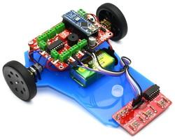 Mini LineBot Arduino Based Line Follower Robot Kit - Thumbnail