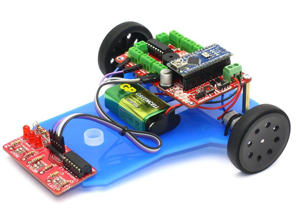 Mini LineBot Arduino Based Line Follower Robot Kit