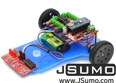 Jsumo - Mini LineBot Arduino Based Line Follower Robot Kit (1)
