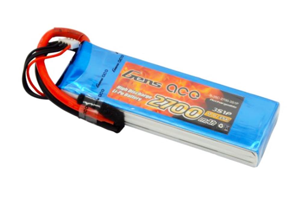 Gens Ace 2700mAh 11.1V 35C 3S1P LiPo Battery