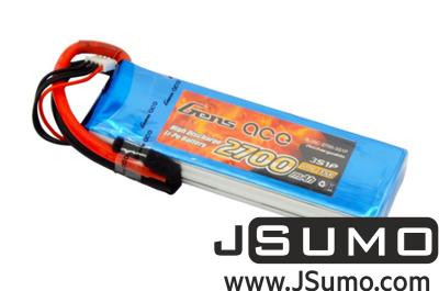Gens Ace - Gens Ace 2700mAh 11.1V 35C 3S1P LiPo Battery