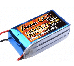 GENSACE 1300 Mah 11,1V 3S LiPO Battery - Thumbnail