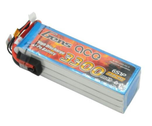 GENSACE 3300mAh 6S 22,2V 35C Lipo Battery
