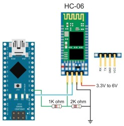 HC-06 Bluetooth Module (Serial Receiver Module) - Thumbnail
