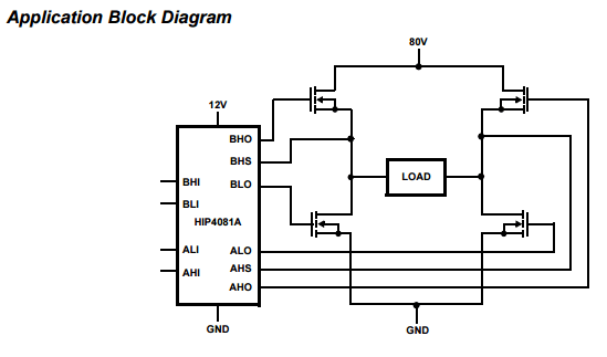 HIP4081A Full Bridge Mosfet Driver IC SOIC20