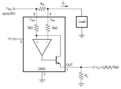 INA139 High Side Current Monitor 2,7V - 40V