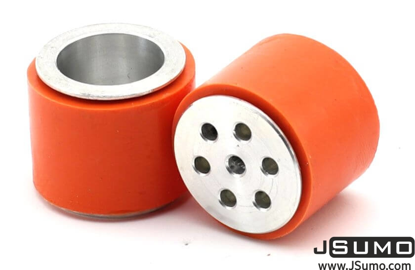 JS2622 Aluminum-Silicone Wheel Pair (26mm Diameter)