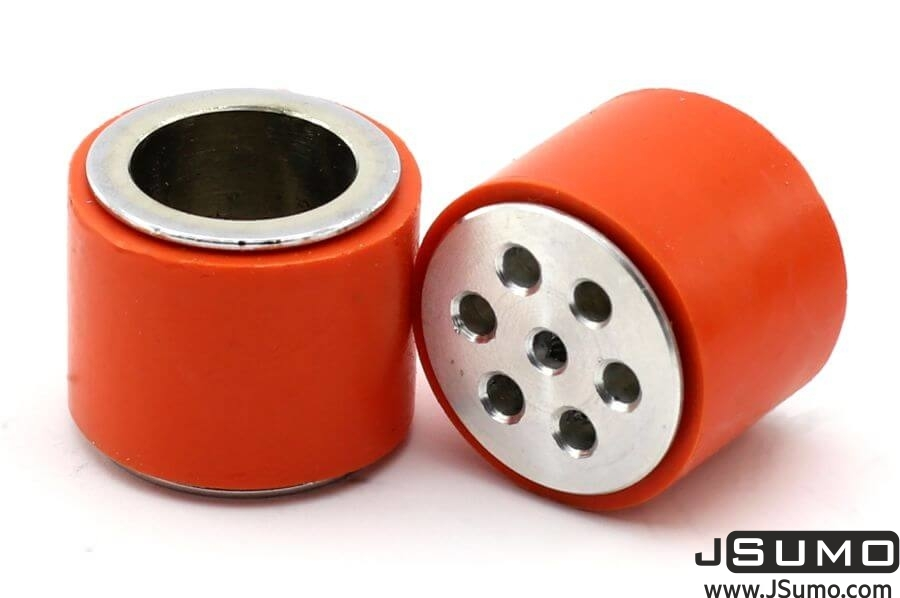 JS2622S Steel-Silicone Wheel Pair (26mm Diameter)