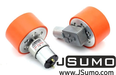 Jsumo - JS7444 Aluminum-Silicone Wheel Pair (74mm Diameter) (1)