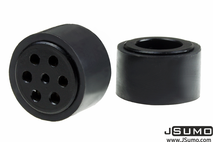 JSumo Dark Silicone Wheel Set (33mm Diameter - Pair)