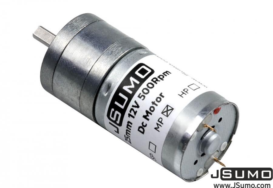 JSumo DC Gearhead Motor 25mm 12V 500 RPM HP