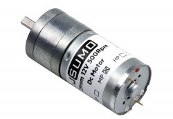 JSumo DC Gearhead Motor 25mm 12V 500 RPM HP - Thumbnail