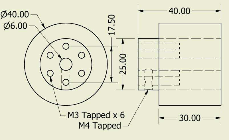 JSumo Robot Wheel 40x40mm Pair