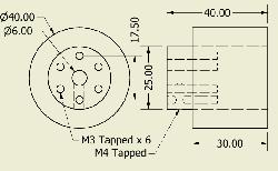 JSumo Robot Wheel 40x40mm Pair - Thumbnail